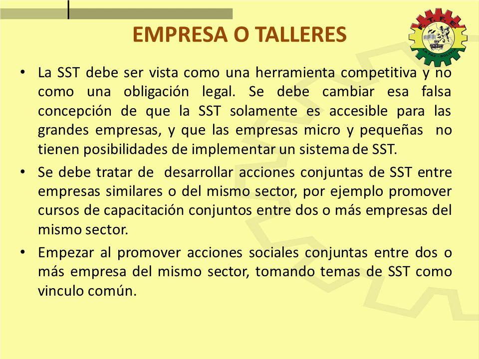 EMPRESA O TALLERES