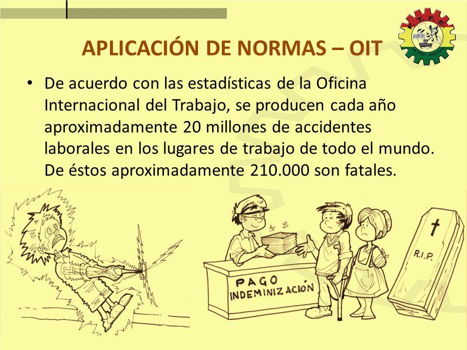 APLICACIÓN DE NORMAS – OIT