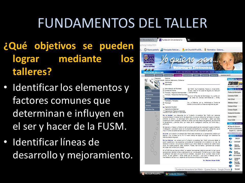 FUNDAMENTOS DEL TALLER