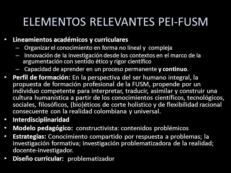 ELEMENTOS RELEVANTES PEI-FUSM