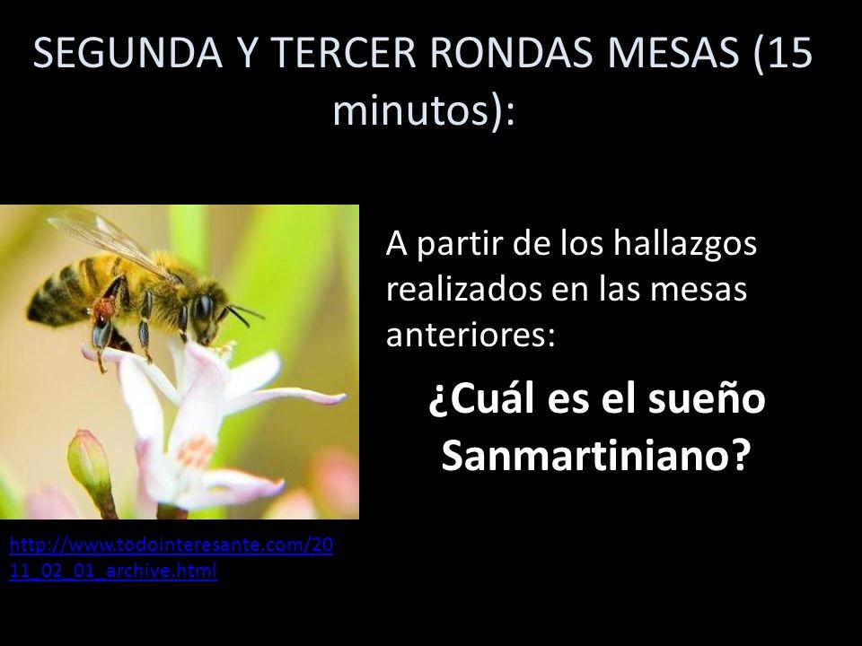 SEGUNDA Y TERCER RONDAS MESAS (15 minutos):