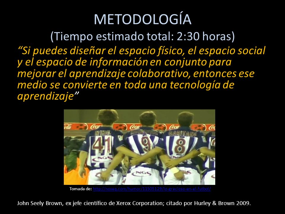 METODOLOGÍA (Tiempo estimado total: 2:30 horas)