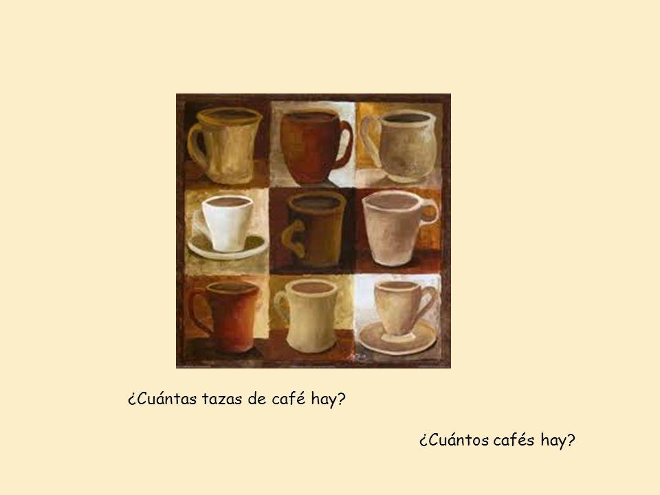 ¿Cuántas tazas de café hay