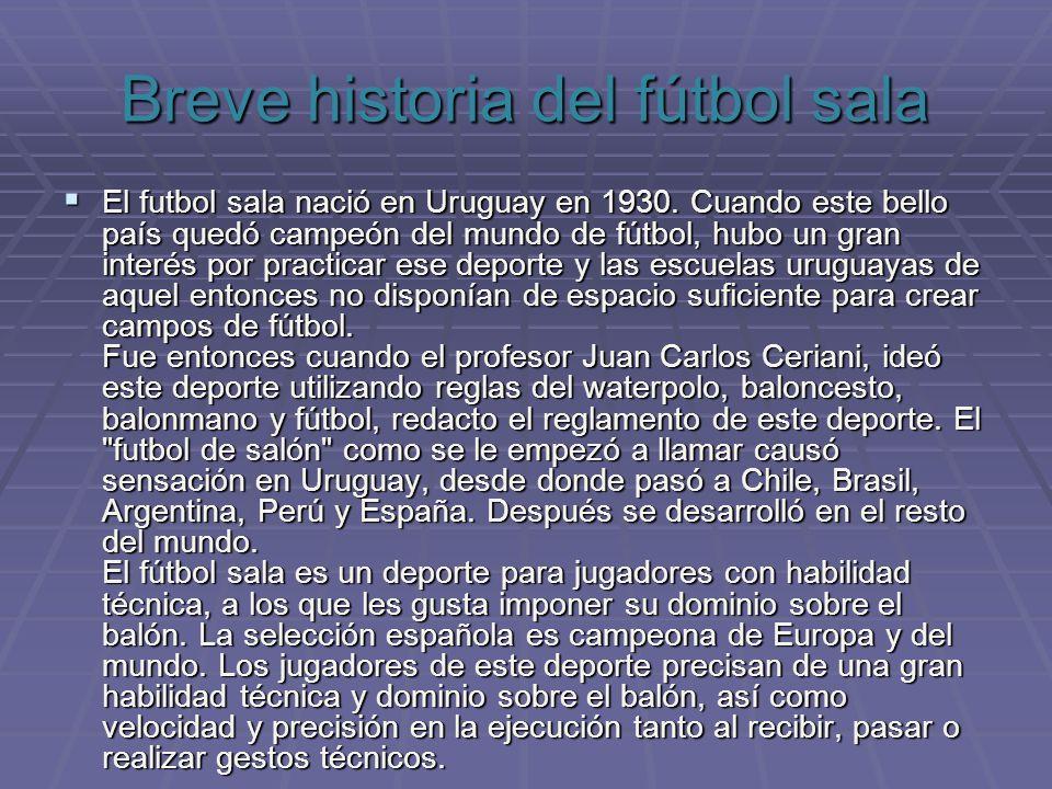 Breve historia del fútbol sala