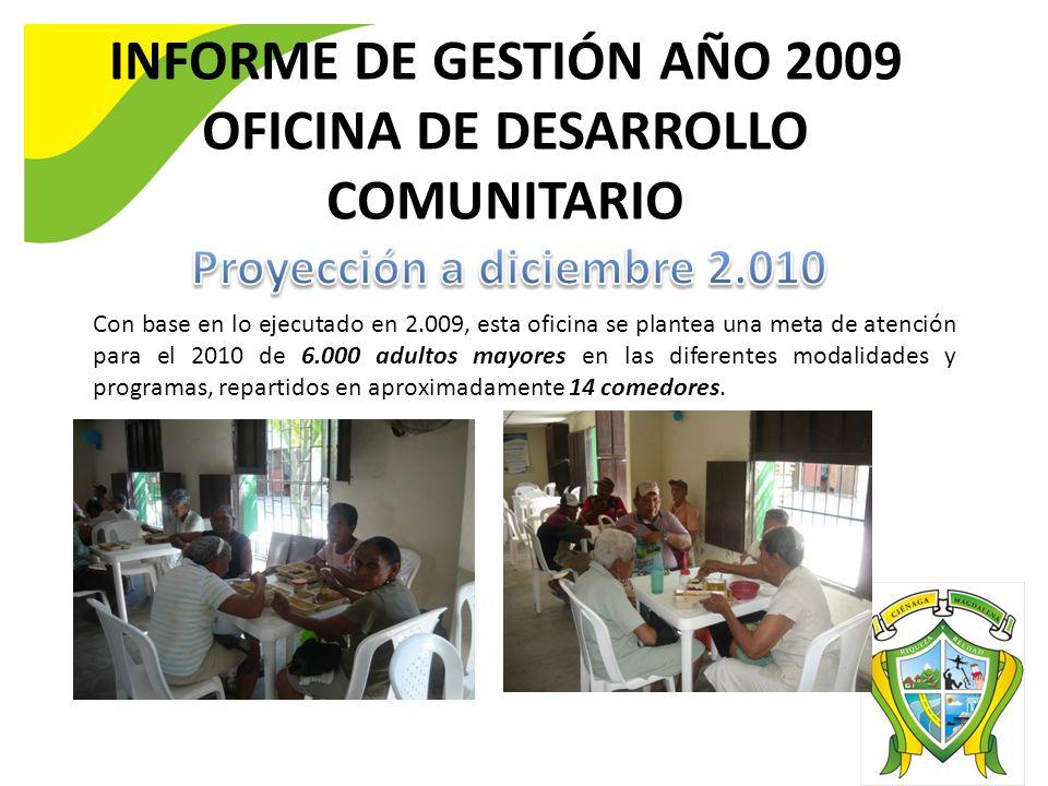 INFORME DE GESTIÓN AÑO 2009 OFICINA DE DESARROLLO COMUNITARIO