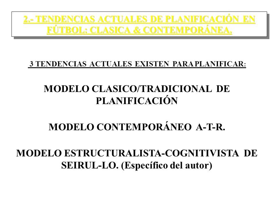 MODELO CLASICO/TRADICIONAL DE PLANIFICACIÓN