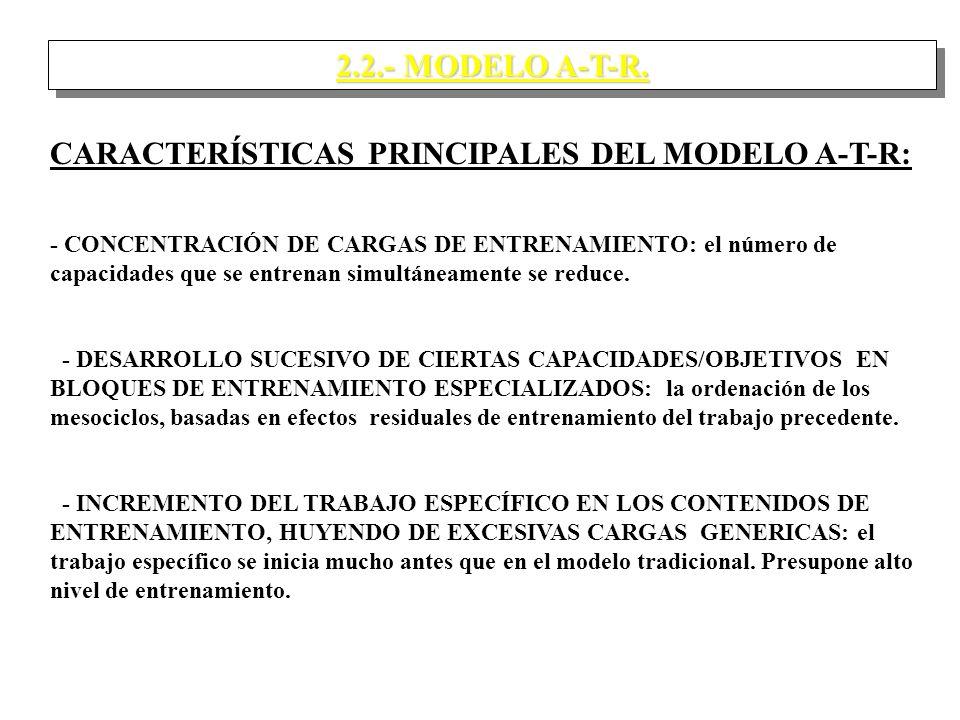 CARACTERÍSTICAS PRINCIPALES DEL MODELO A-T-R: