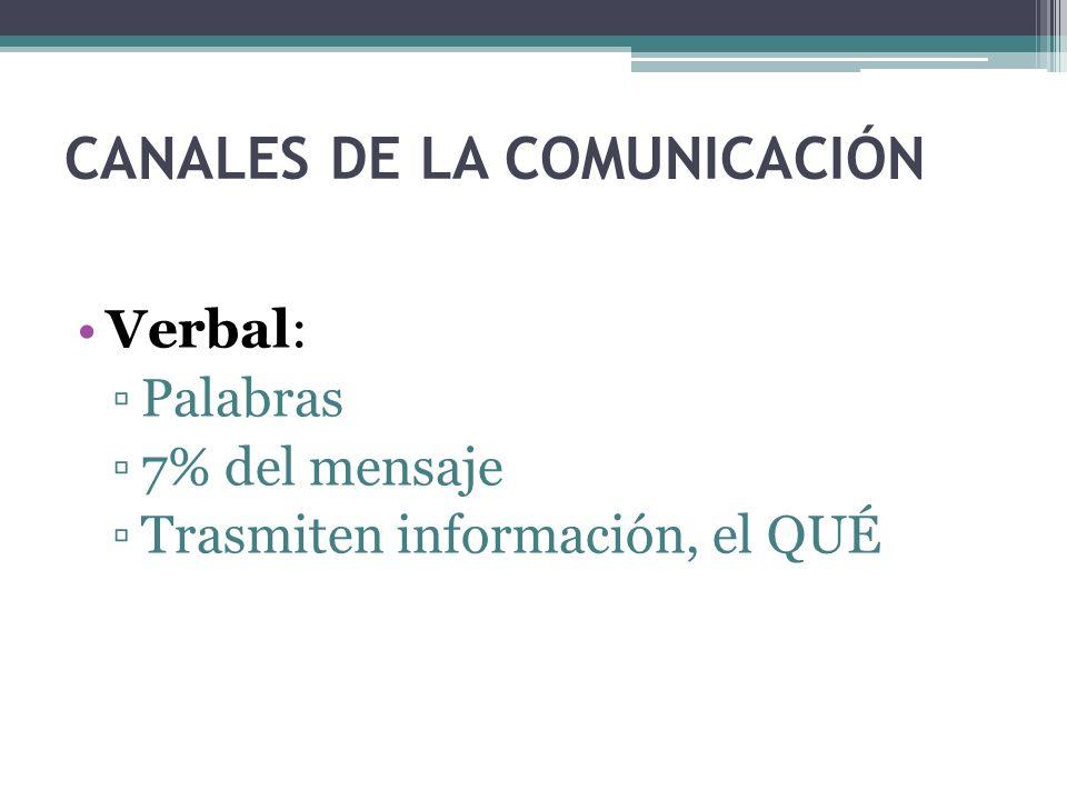 CANALES DE LA COMUNICACIÓN