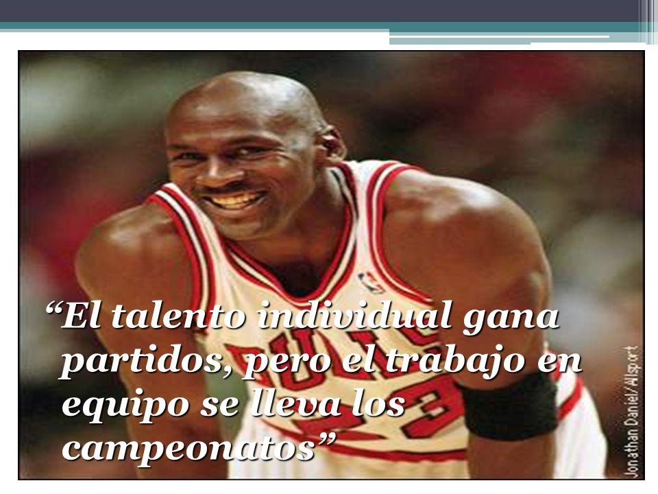 El talento individual gana partidos, pero el trabajo en equipo se lleva los campeonatos
