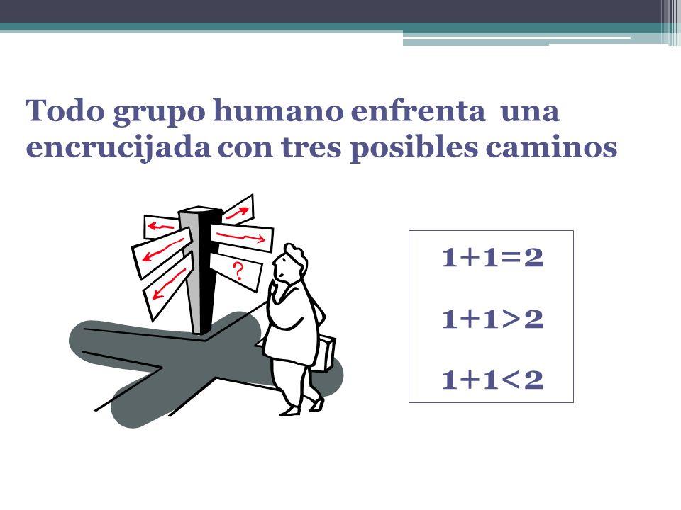 Todo grupo humano enfrenta una encrucijada con tres posibles caminos