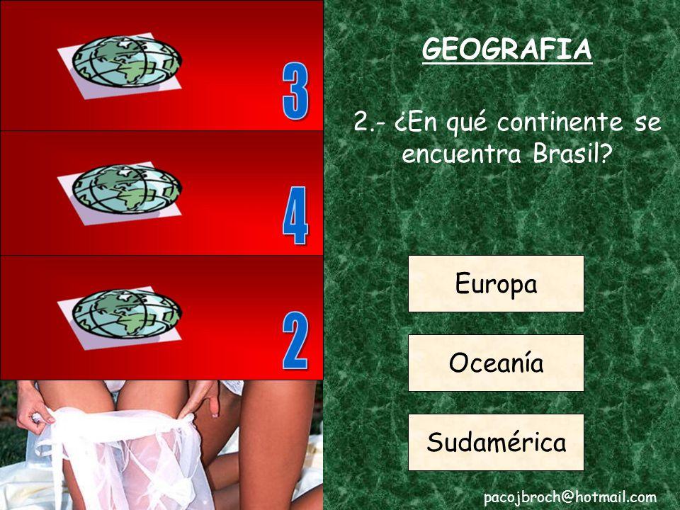 2.- ¿En qué continente se encuentra Brasil