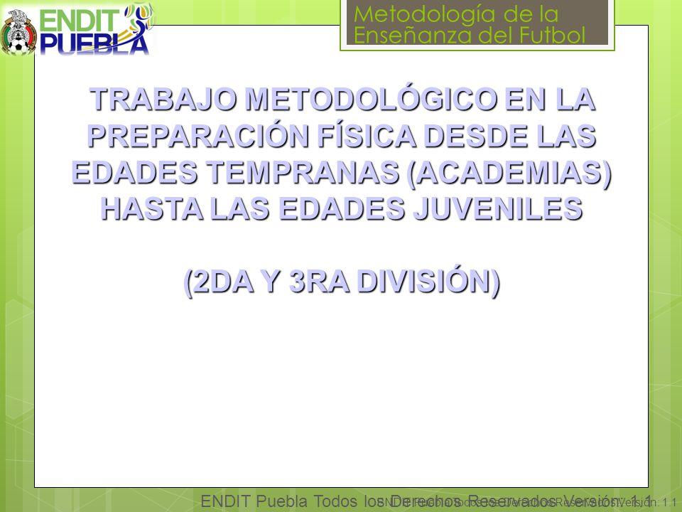 TRABAJO METODOLÓGICO EN LA PREPARACIÓN FÍSICA DESDE LAS EDADES TEMPRANAS (ACADEMIAS) HASTA LAS EDADES JUVENILES (2DA Y 3RA DIVISIÓN)