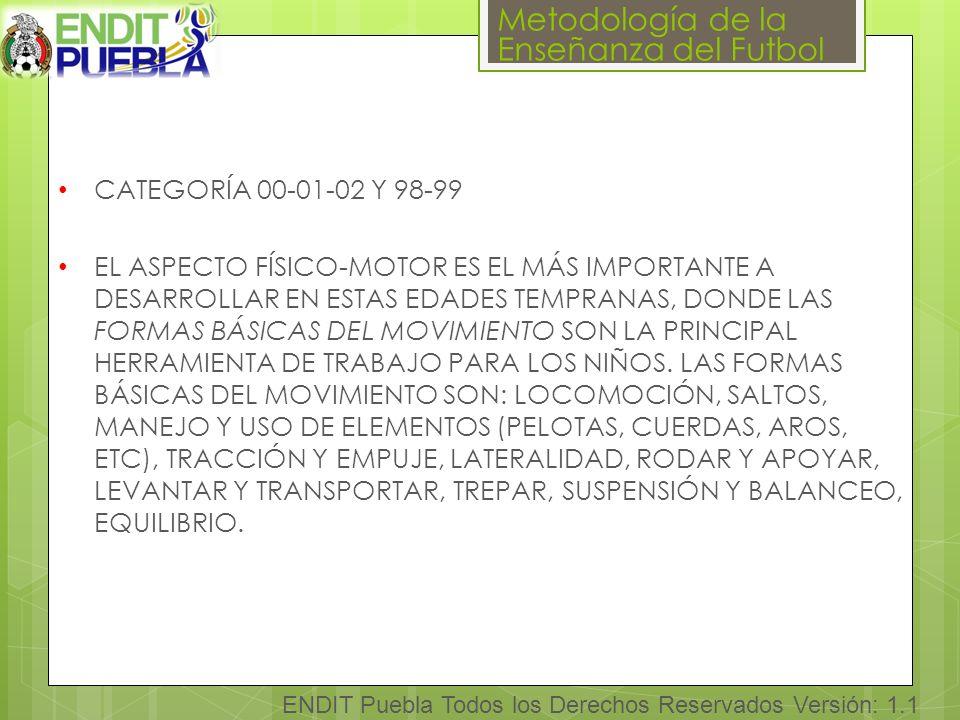 CATEGORÍA 00-01-02 Y 98-99