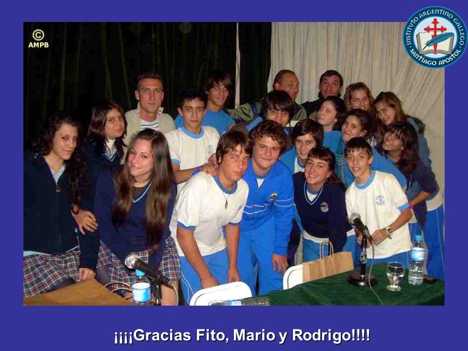 ¡¡¡¡Gracias Fito, Mario y Rodrigo!!!!