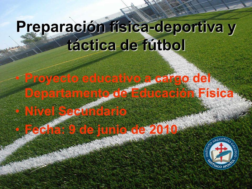 Preparación física-deportiva y táctica de fútbol