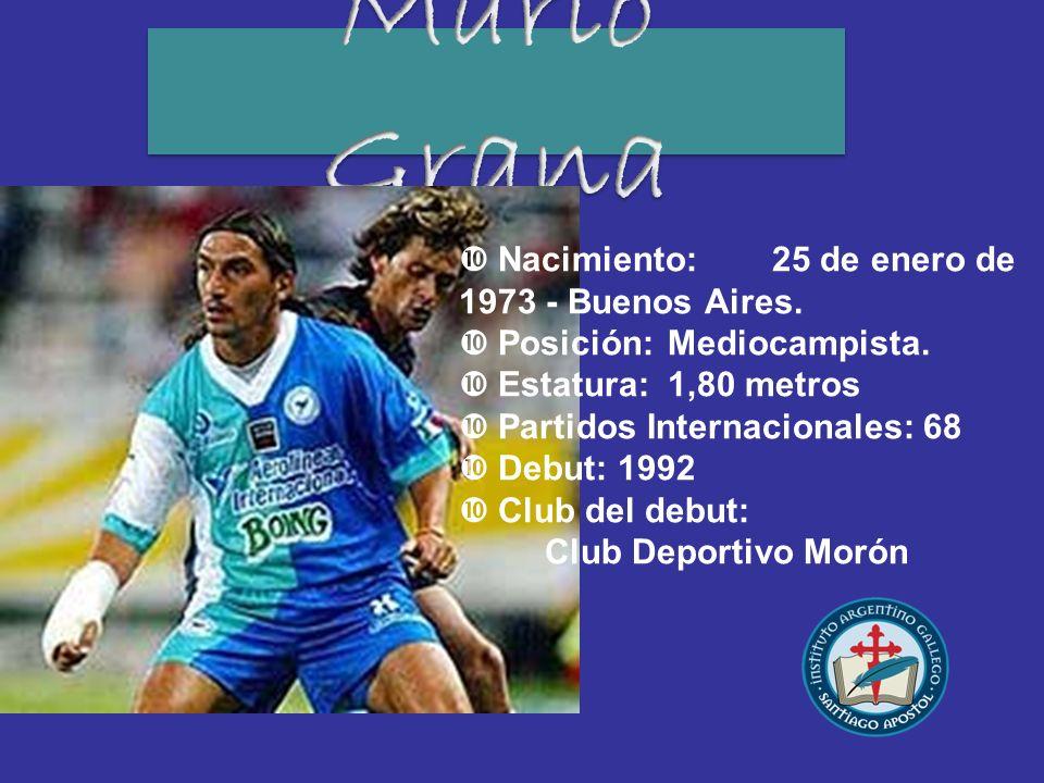 Mario Grana Nacimiento: 25 de enero de 1973 - Buenos Aires.
