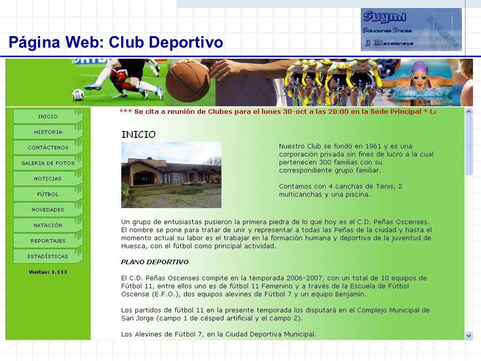 Página Web: Club Deportivo