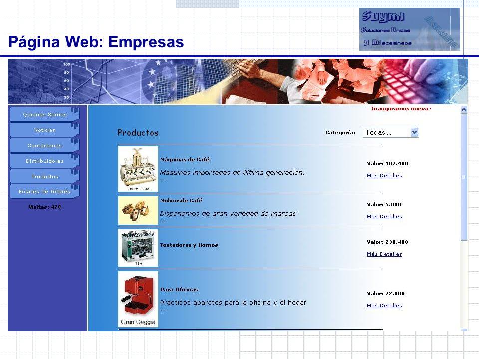 Página Web: Empresas Objetivos