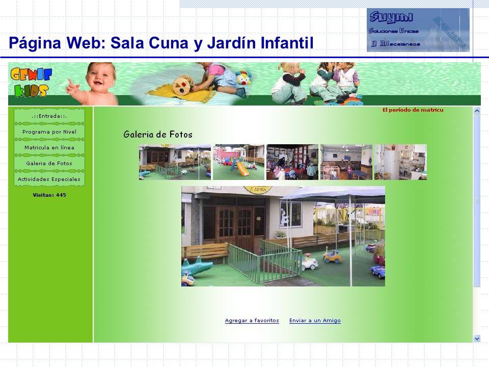 Página Web: Sala Cuna y Jardín Infantil