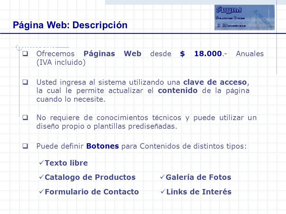 Página Web: Descripción