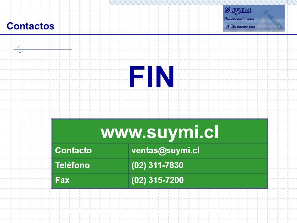 www.suymi.cl Contactos FIN Contacto ventas@suymi.cl Teléfono