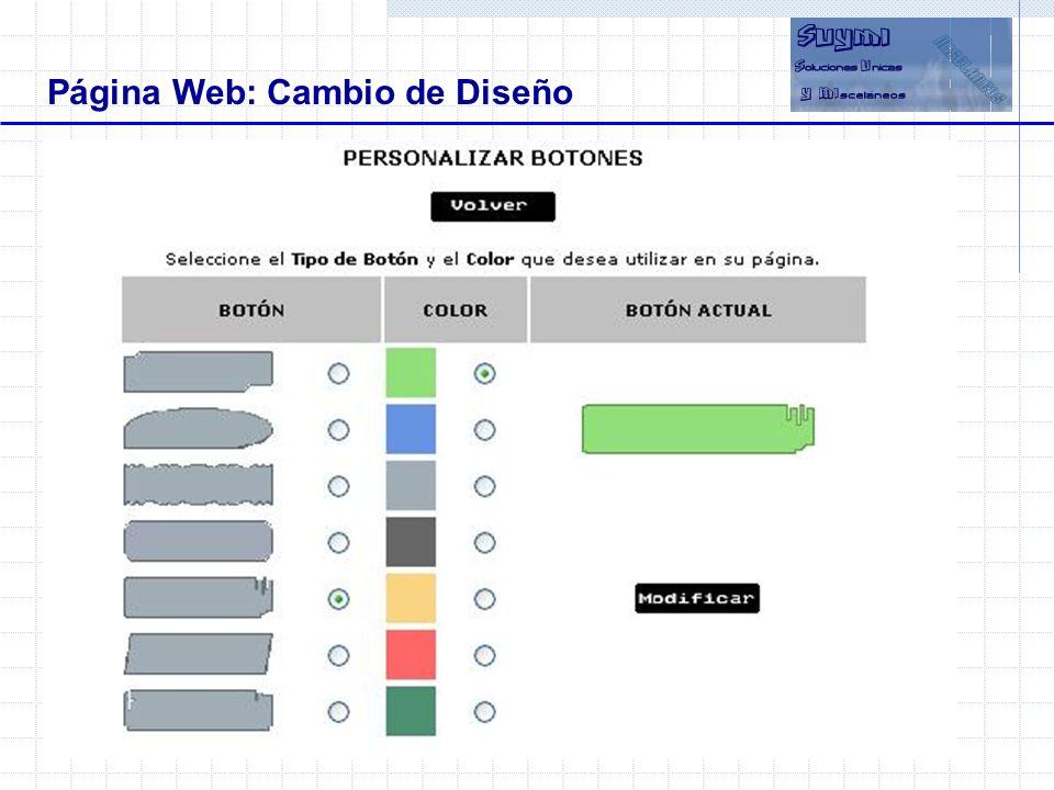 Página Web: Cambio de Diseño