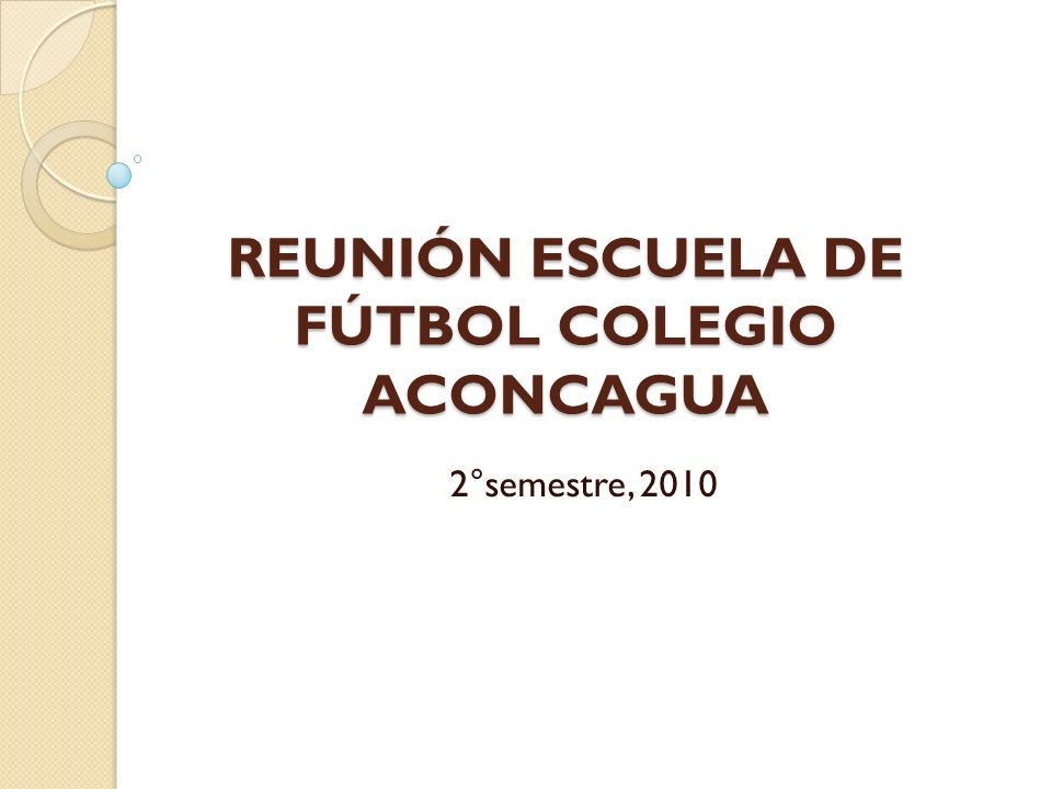 REUNIÓN ESCUELA DE FÚTBOL COLEGIO ACONCAGUA