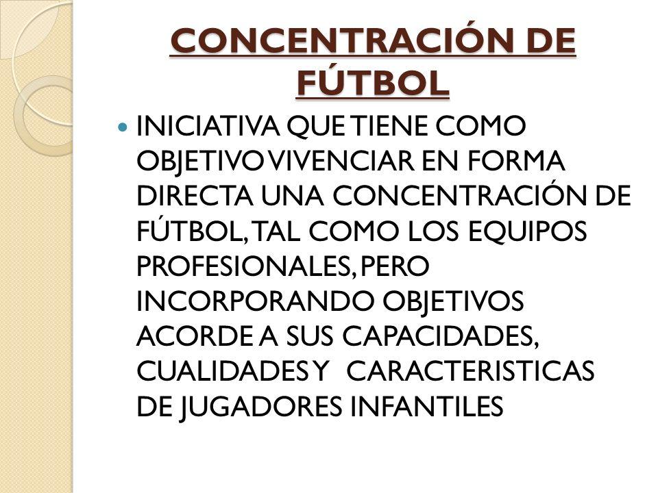CONCENTRACIÓN DE FÚTBOL