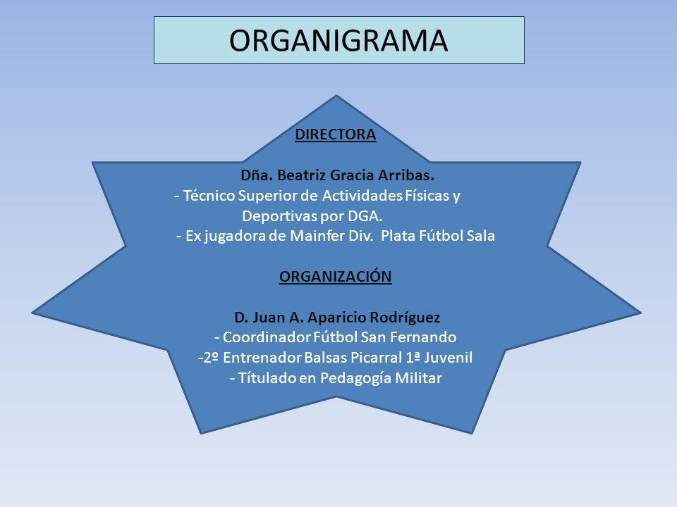 ORGANIGRAMA DIRECTORA Dña. Beatriz Gracia Arribas.
