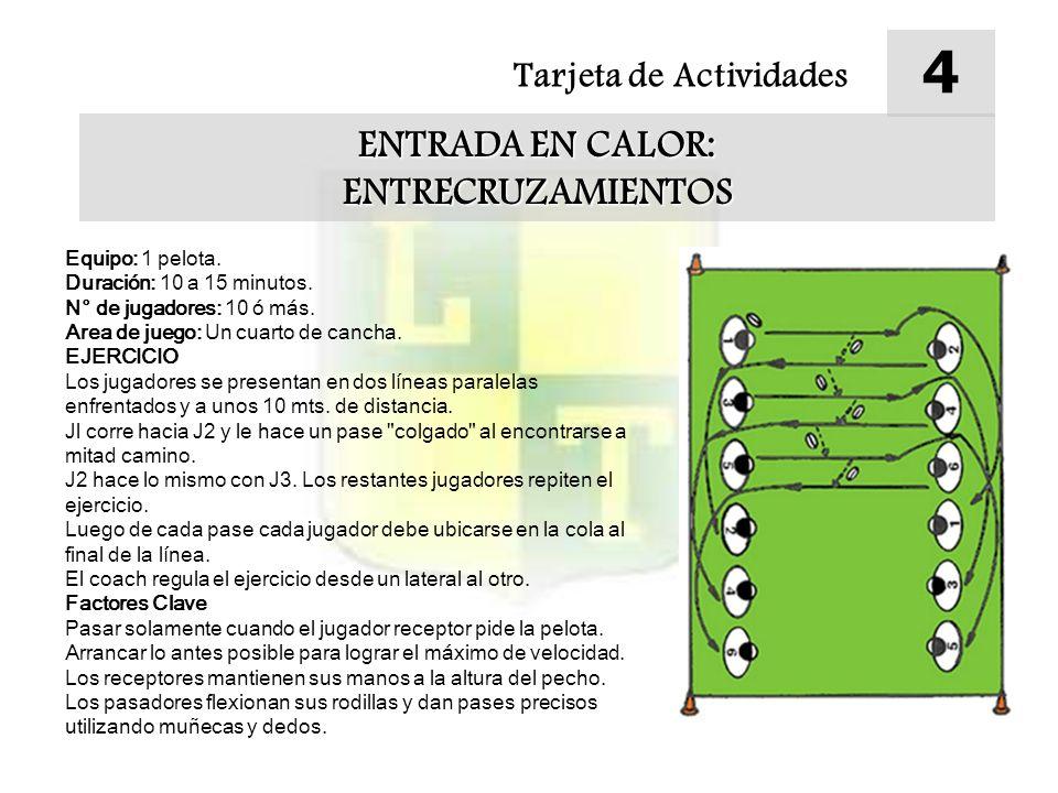 4 ENTRADA EN CALOR: ENTRECRUZAMIENTOS Tarjeta de Actividades