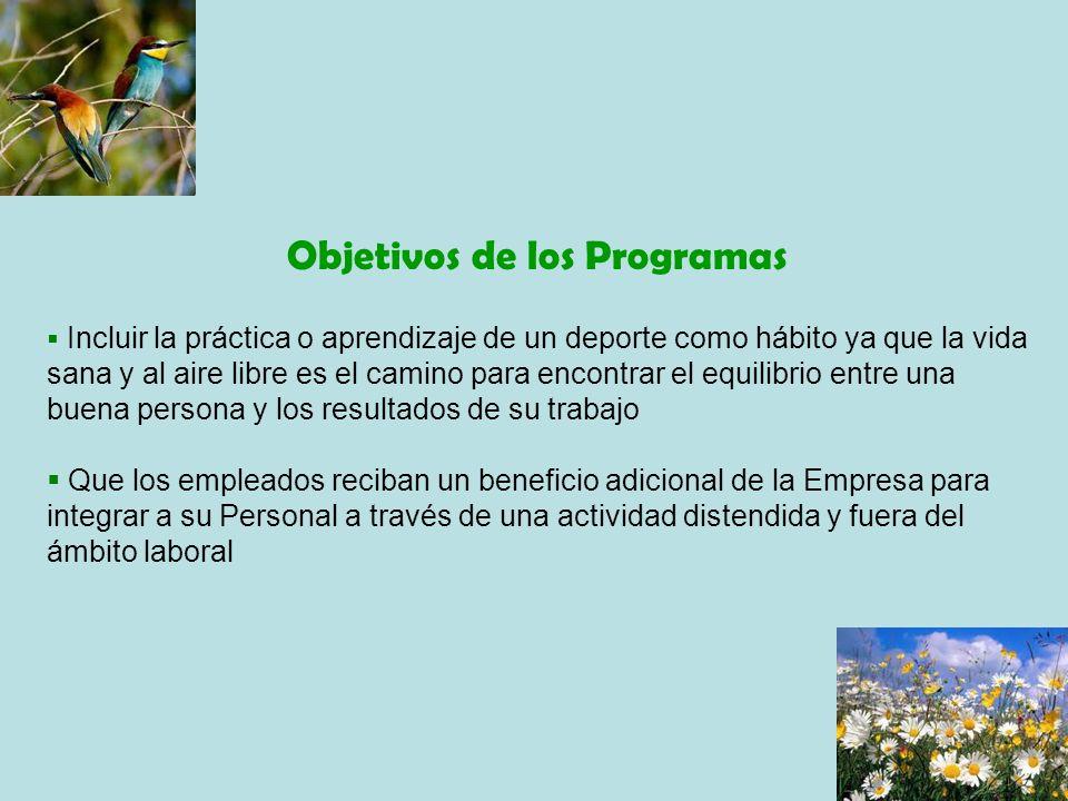Objetivos de los Programas