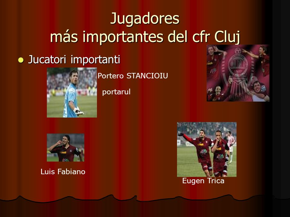 Jugadores más importantes del cfr Cluj
