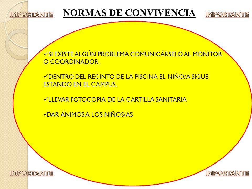 NORMAS DE CONVIVENCIA IMPORTANTE IMPORTANTE