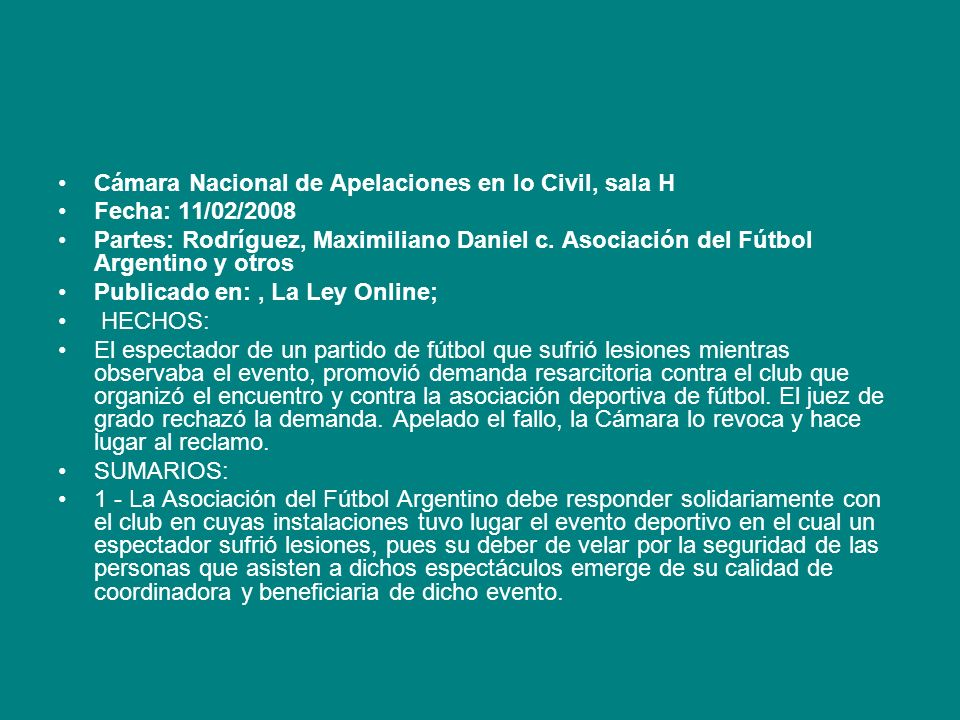 Cámara Nacional de Apelaciones en lo Civil, sala H