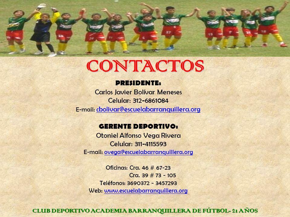 CLUB DEPORTIVO ACADEMIA BARRANQUILLERA DE FÚTBOL- 21 AÑOS