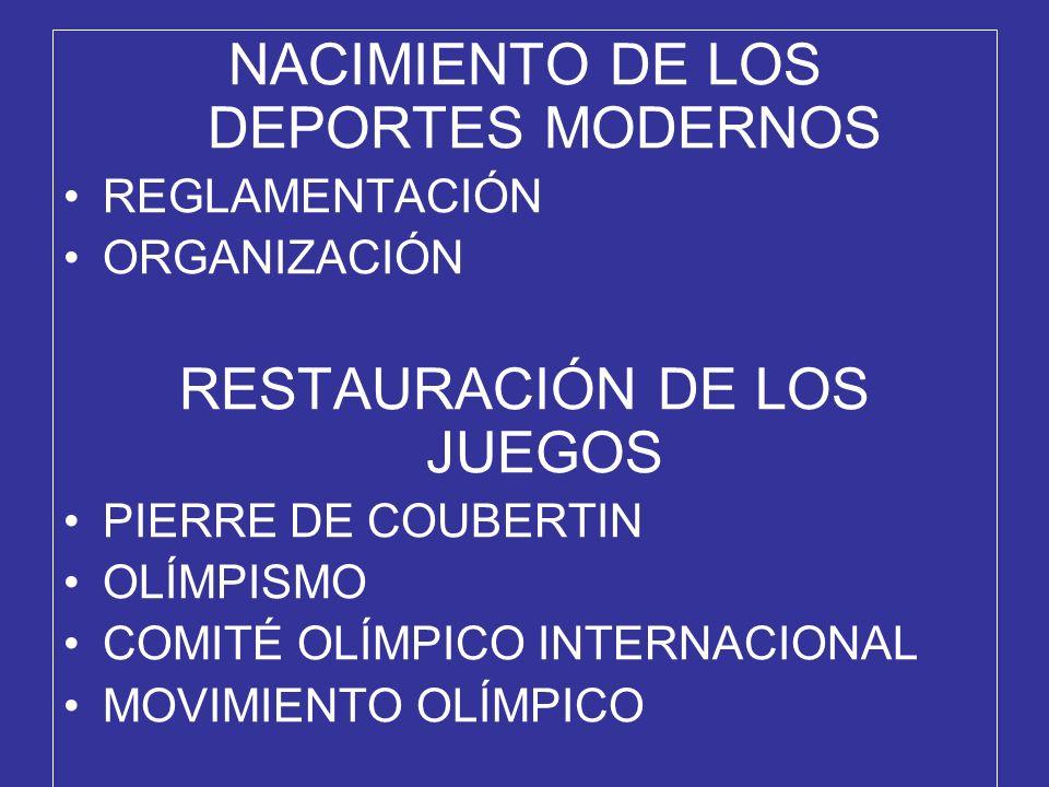 NACIMIENTO DE LOS DEPORTES MODERNOS