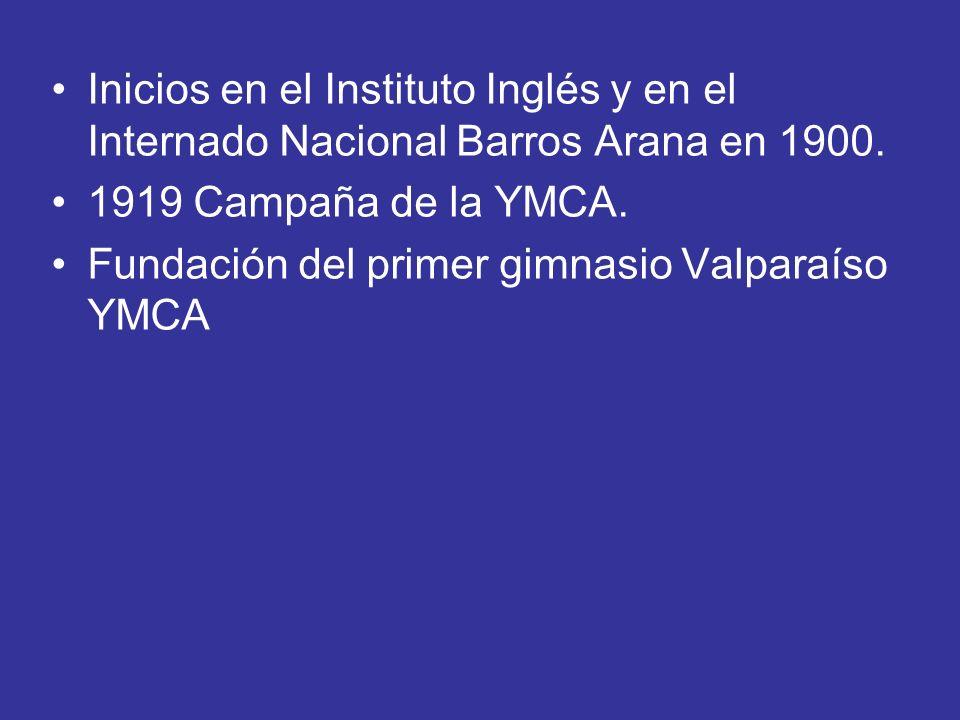 Inicios en el Instituto Inglés y en el Internado Nacional Barros Arana en 1900.