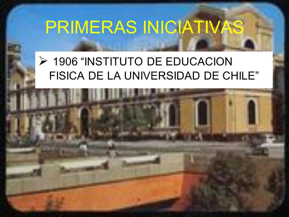 PRIMERAS INICIATIVAS 1906 INSTITUTO DE EDUCACION FISICA DE LA UNIVERSIDAD DE CHILE