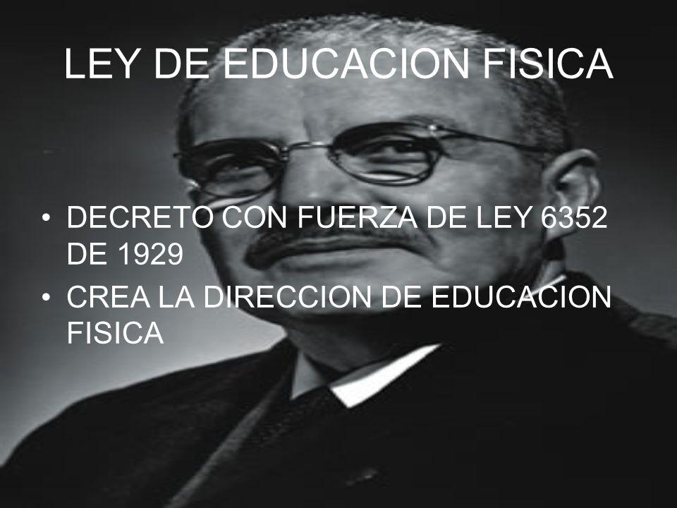 LEY DE EDUCACION FISICA