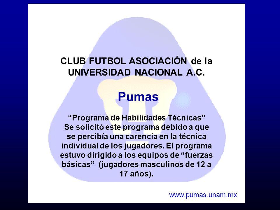 Pumas CLUB FUTBOL ASOCIACIÓN de la UNIVERSIDAD NACIONAL A.C.