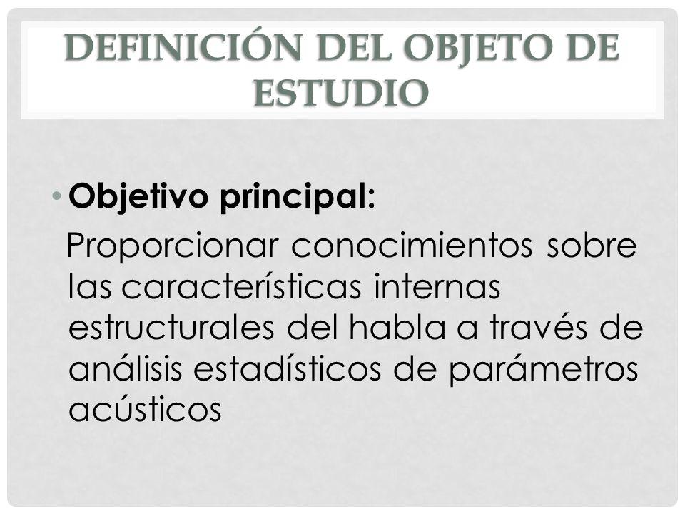 Definición del objeto de estudio
