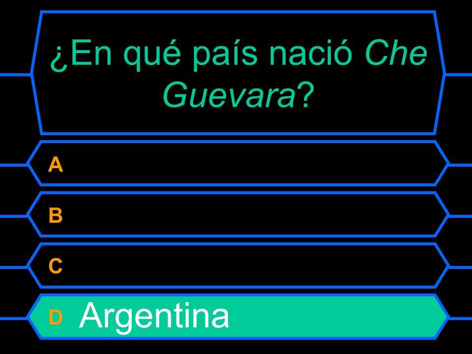 ¿En qué país nació Che Guevara