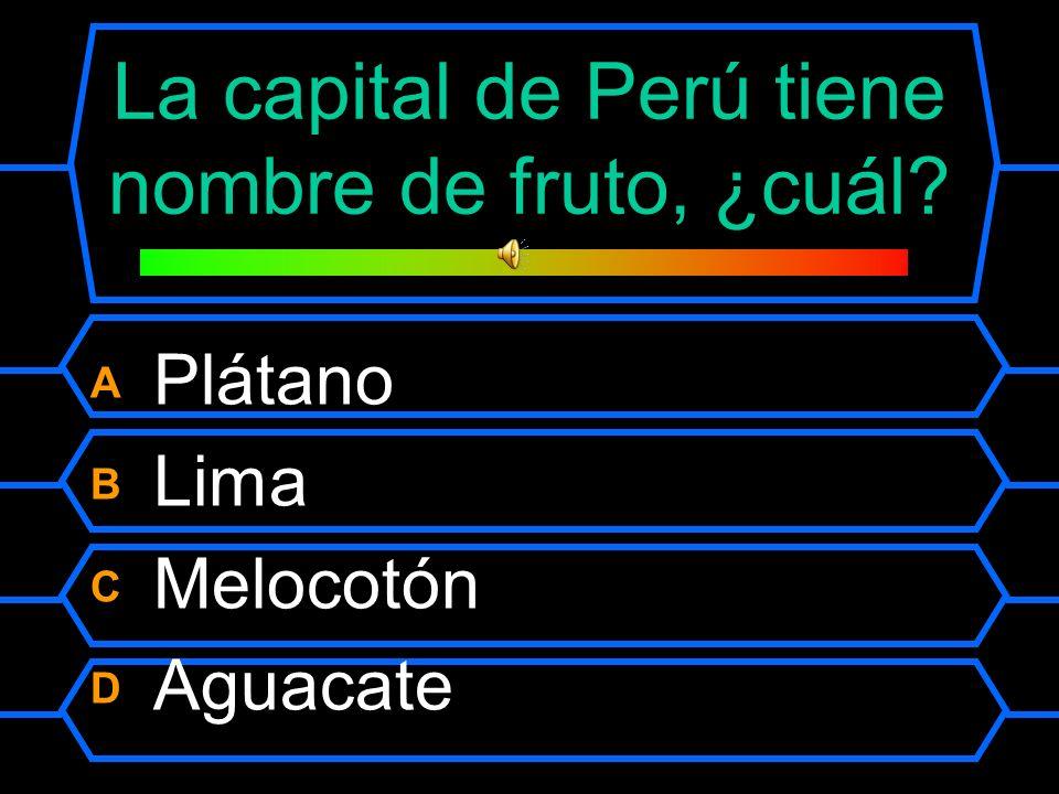 La capital de Perú tiene nombre de fruto, ¿cuál