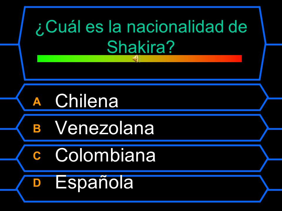 ¿Cuál es la nacionalidad de Shakira