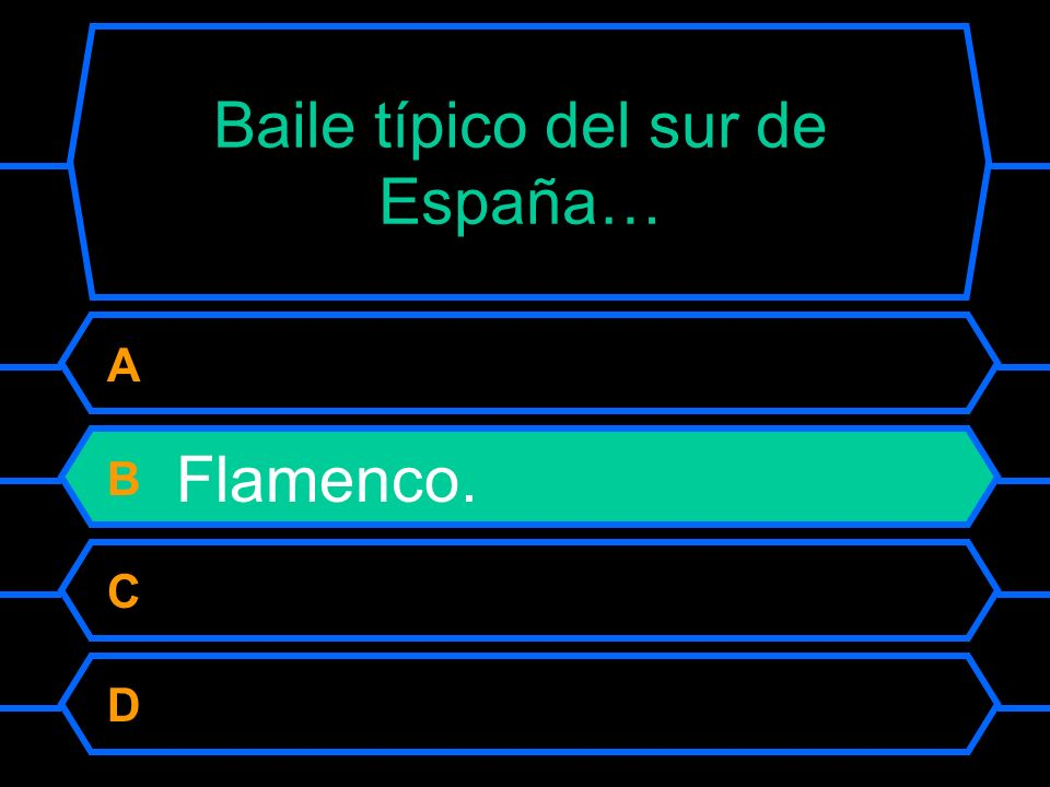 Baile típico del sur de España…