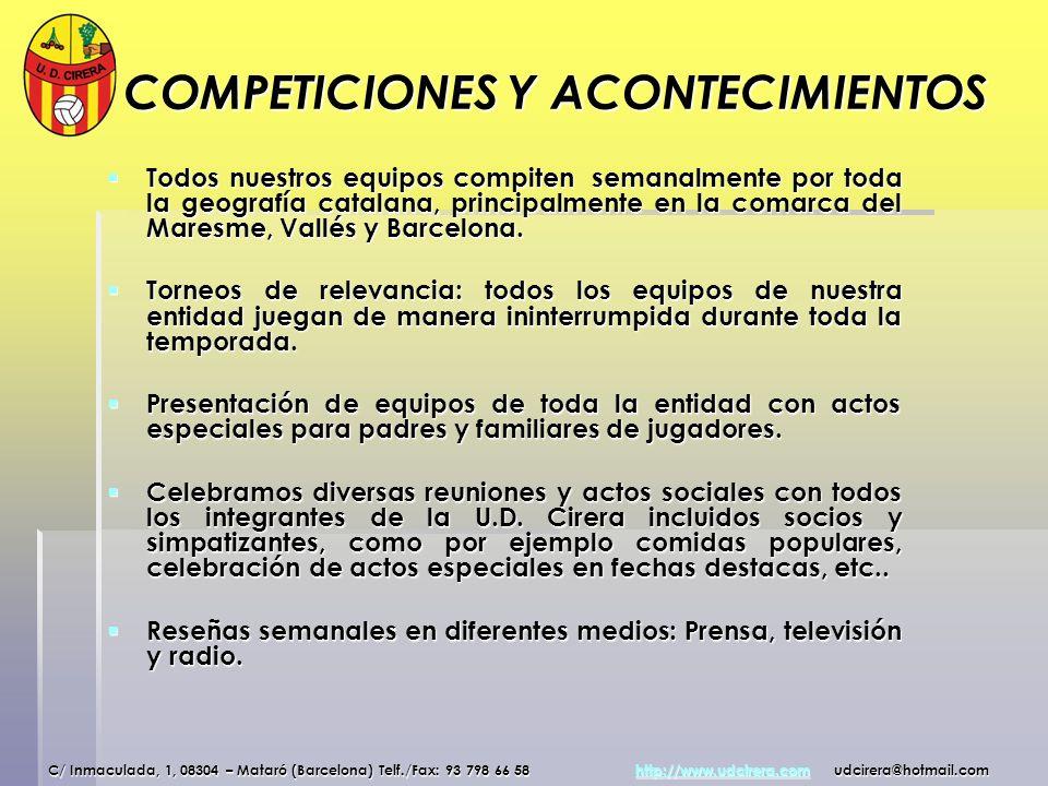 COMPETICIONES Y ACONTECIMIENTOS