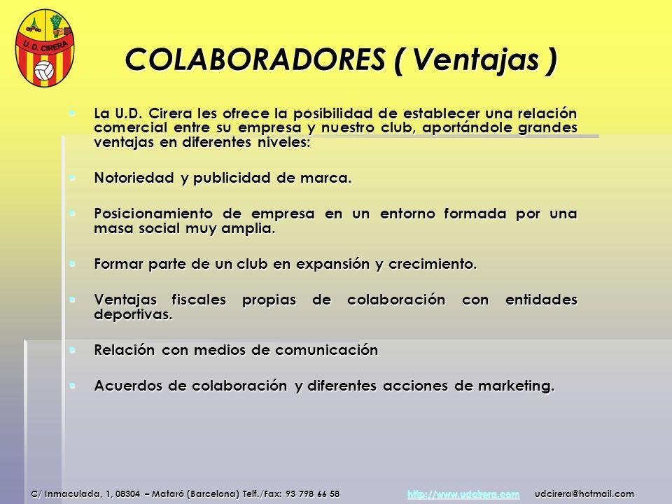 COLABORADORES ( Ventajas )