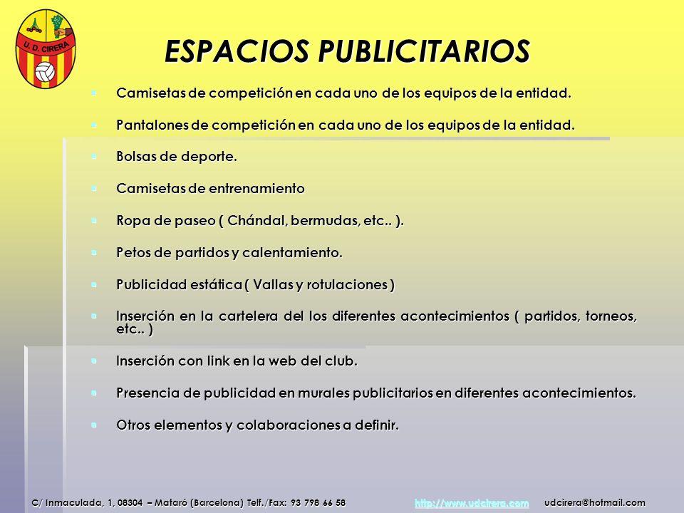 ESPACIOS PUBLICITARIOS