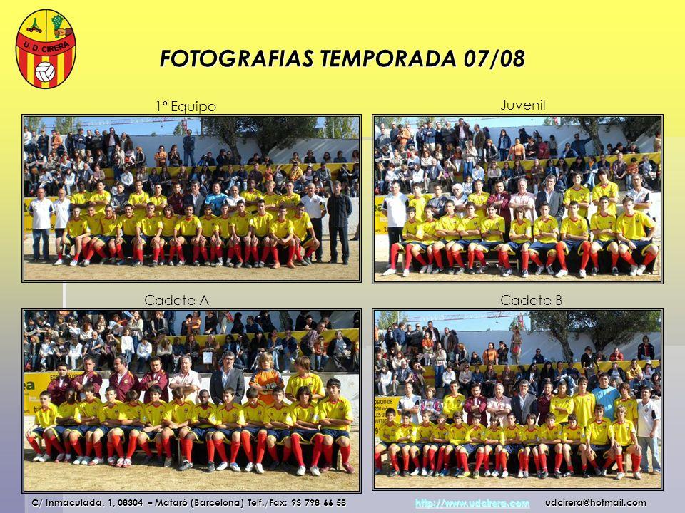 FOTOGRAFIAS TEMPORADA 07/08