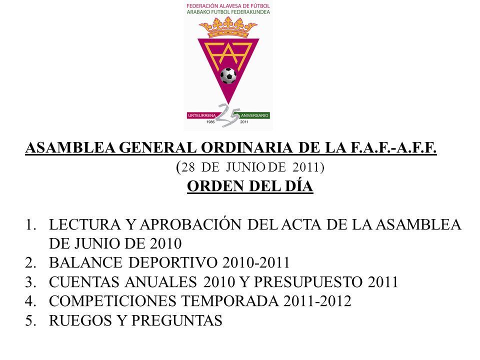 ASAMBLEA GENERAL ORDINARIA DE LA F.A.F.-A.F.F.